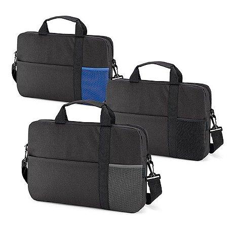 Pasta para Notebook 600D Compartimento forrado com divisória almofadada para notebook até 156'' Bolso frontal com fecho e bolso em tela Alça de ombro ajustável, com reforço
