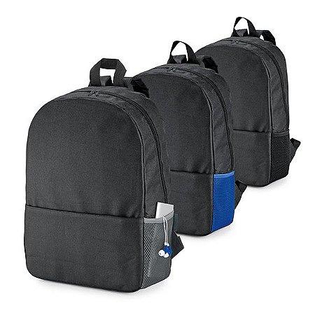 Mochila para notebook 600D Compartimento com divisória almofadada para notebook até 156'' Bolso lateral em tela e bolso frontal Parte posterior e alças almofadadas Bateria e fone não inclusos