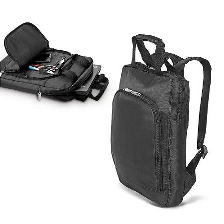 Mochila 840D - Compartimento principal c/ Divisórias para Notebook até 15'' Bolso frontal Alça para trolley