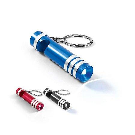 Chaveiro Metal c/ LED e Abridor de Garrafas - Incluso 3 pilhas LR41