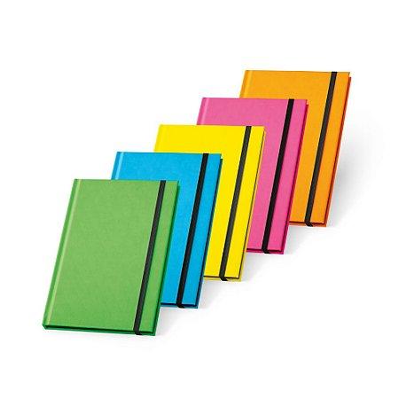 Caderno capa dura PU fluorescente 96 folhas pautadas