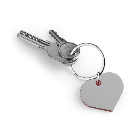 Chaveiro coração Metal e ABS