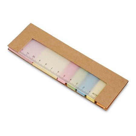 Caderno Cartão 7 conjuntos: 25 folhas cada Com régua de 12 cm com escala impressa
