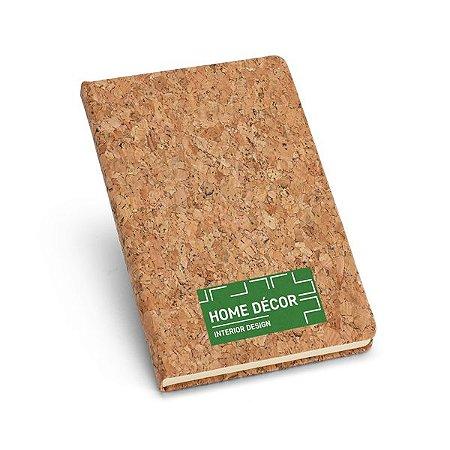 Caderno capa dura Cortiça Com 80 folhas não pautadas cor marfim