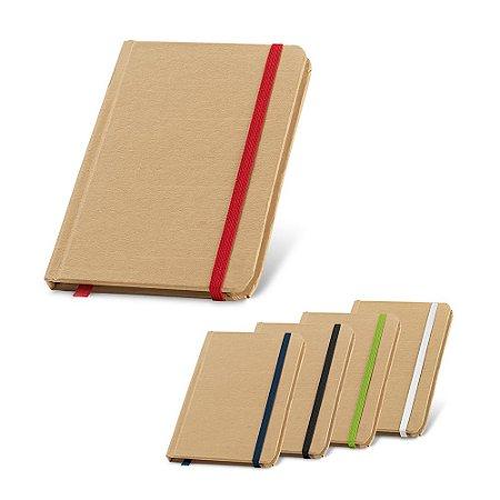 Caderno Cartão Capa dura Com 80 folhas não pautadas de papel reciclado