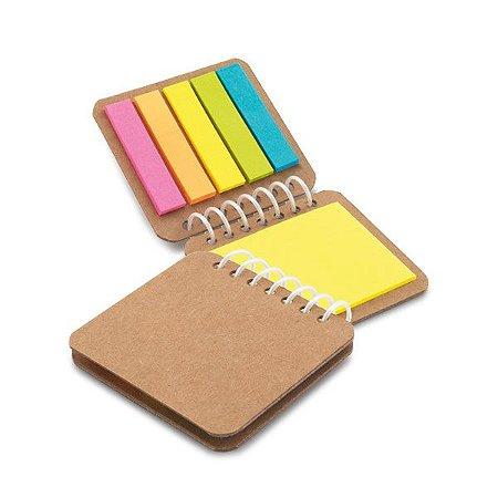 Caderno Papel kraft 6 blocos adesivados: 25 folhas cada