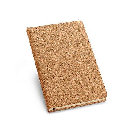 Caderno capa dura A6 Cortiça Com 80 folhas não pautadas cor marfim