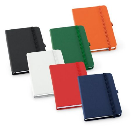 Caderno capa dura C sintético Com porta esferográfica e 80 folhas pautadas