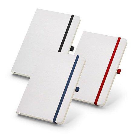 Caderno capa dura Com porta esferográfica e 80 folhas não pautadas cor marfim