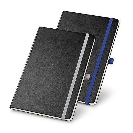 Caderno capa dura Com porta esferográfica, bolso interior e 80 folhas não pautadas cor marfim