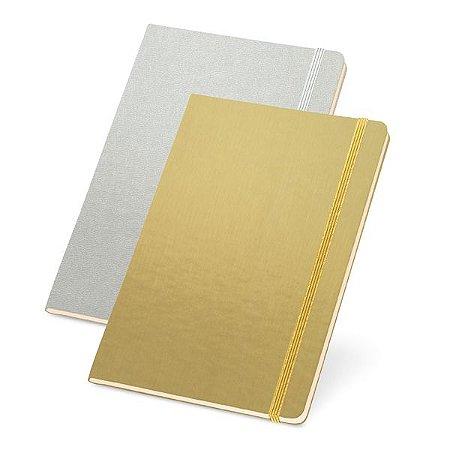 Caderno capa dura Com bolso interior e 80 folhas não pautadas cor marfim