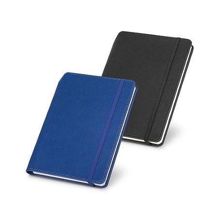 Caderno capa dura C Sintético 96 folhas pautadas Suporte para uma esferográfica (não inclusa)