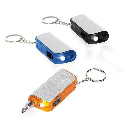 Chaveiro c/ LED e Ferramenta Incluso 4 pilhas LR41