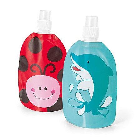 Squeeze Dobrável PA e PE BPA free - Capacidade até 350 ml