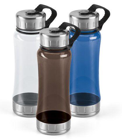 Squeeze Aço inox e AS Capacidade até 600 ml Food grade Caixa branca 94650 vendida opcionalmente