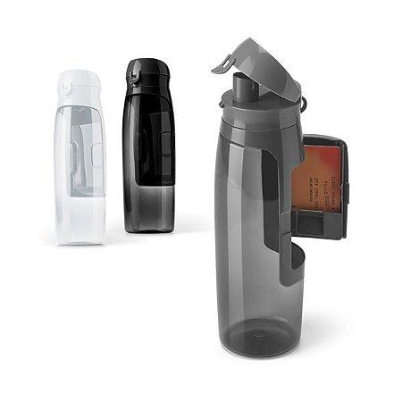 Squeeze Tritan™ c/ compartimento para Cartões, Chaves e Dinheiro - Capacidade: 800 ml