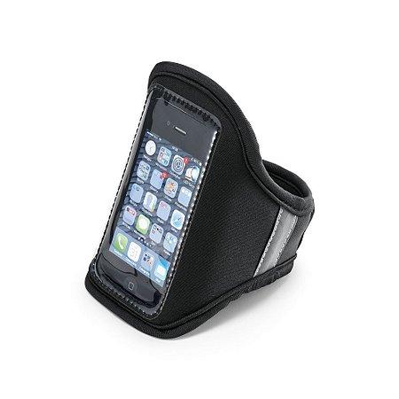 Braçadeira para celular Soft shell Com banda refletiva e fecho ajustável Para smartphone 51''