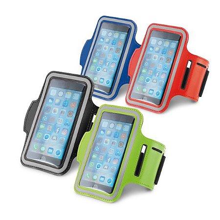Braçadeira para celular Soft shell de alta densidade Com elementos refletivos e fecho ajustável Para smartphone 5''