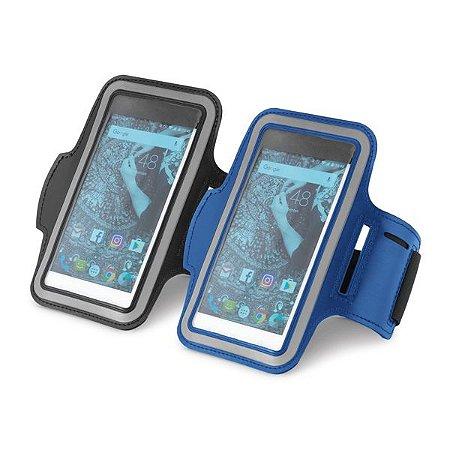 Braçadeira para celular Soft shell de alta densidade Com elementos refletivos e fecho ajustável Para smartphone 55''