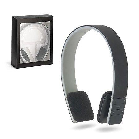 Fone de ouvido ABS Ajustável Com acabamento emborrachado e transmissão por bluetooth