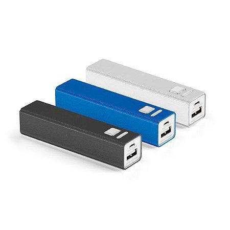 Bateria portátil Alumínio Bateria de lítio Capacidade: 2600 mAh Tempo de vida ≥ 500 ciclos Com entrada/saída 5V/1A Incluso cabo USB/micro USB para carregar a bateria