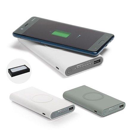 Bateria Portátil Wireless ABS Acabamento emborrachado