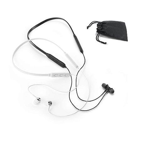 Fone de ouvido PC Magnético Com transmissão por bluetooth Autonomia até 7 horas Função para atender chamadas, controle de volume e conexão à playlist do dispositivo móvel Incluso cabo USB/micro USB para carregar Fornecido em bolsa em non-woven
