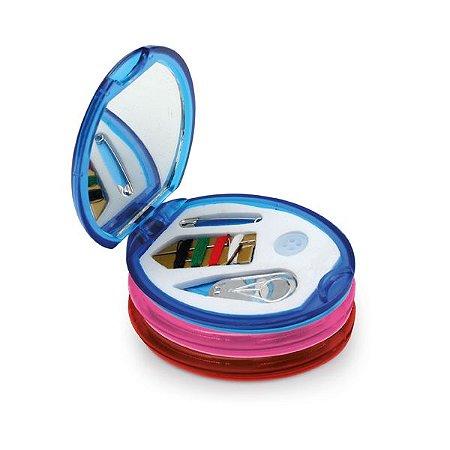 Kit de costura Incluso 1 agulha, 1 enfia agulha, 1 botão, 4 linhas de cor e 1 alfinete