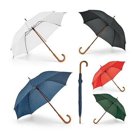 Guarda-chuva Poliéster 190T Haste e pega em madeira