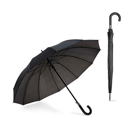 Guarda-chuva de 12 varetas Poliéster 190T Pega revestida em borracha Abertura automática