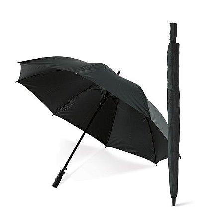 Guarda-chuva de golfe Pongee 190T Haste e varetas em fibra de vidro e pega em PP À prova de vento Abertura automática Fornecido em bolsa