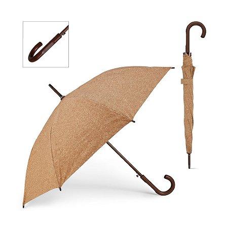 Guarda-chuva Cortiça Haste e pega em madeira Abertura automática