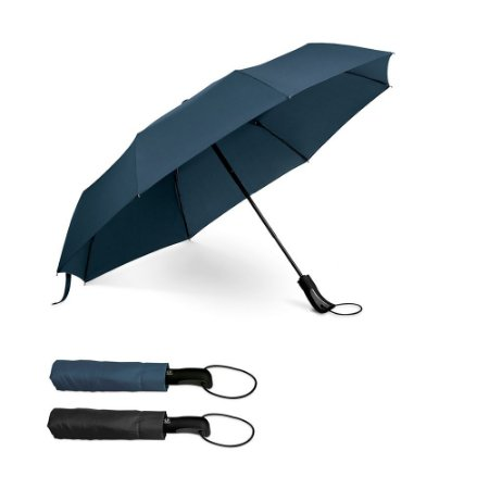 Guarda-chuva dobrável 190T pongee Pega revestida em borracha Abertura automática Fornecido em bolsaGuarda-chuv