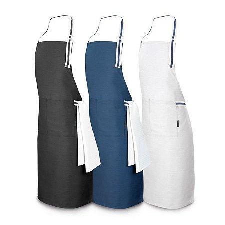 Avental Algodão e poliéster: 150 g/m² Ajustável Com 2 bolsos