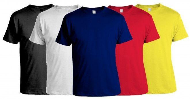 Camiseta Colorida 100% Algodão 30/1 Penteado - 25 Tramas + Transfer - A4 Impressão Laser  Malha Escura