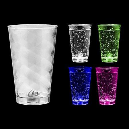 NP - Copo Big Twister LED Multicolor 700ml em PS Cristal com LED Multicolor