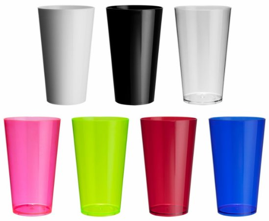 NP - Copo Mega Drink 550 ml em PS cristal