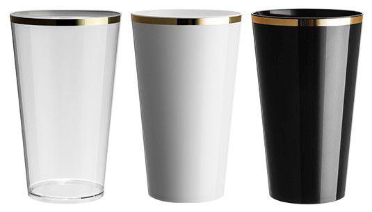 NP - COPO MEGA DRINK GOLDEN 550ML Copo em PS cristal
