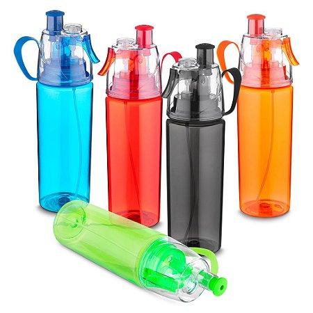 GA4200 - Garrafa plástica 570 ml com spray, plástico utilizado AS (Estireno de acrilonitrilo)