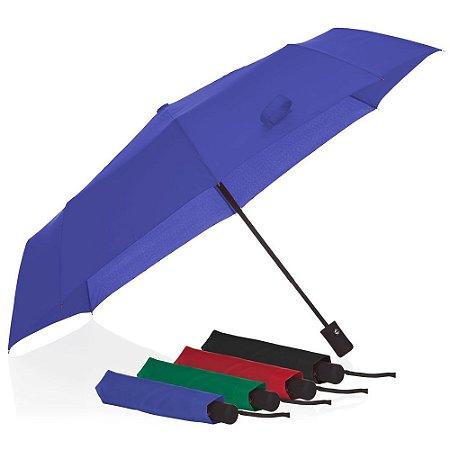GC1040 - Guarda-chuva abre e fecha automático com botão acionador, alça de mão e capa protetora.