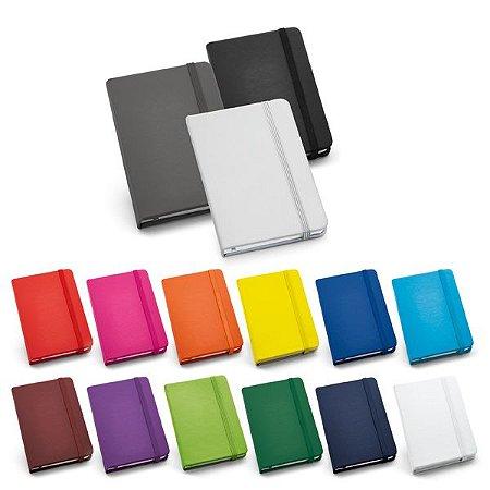 SP 93425 - Caderno capa dura. C. sintético. c/ 80 folhas não pautadas. 90 x 140 mm