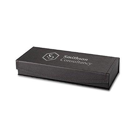 SP 91969 - Estojo para 1 ou 2 esferográficas Cartão c/ almofada em veludo - 170 x 50 x 28 mm