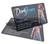 Cartão Visita Off-Set - PVCB012 - 100 Unid - Pvc Transparente 30g - c/ Tinta Branca - 4x0