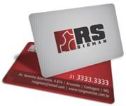 Cartão Visita Off-Set - PVCC12 - 250 Unid - Pvc Cristal 50g - 4x4