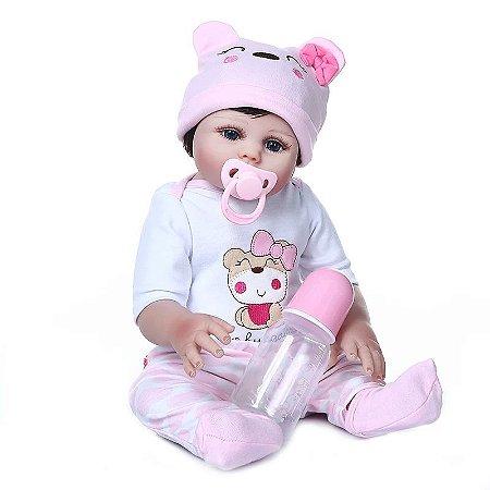 Bebê Ana Beatriz  100% Silicone  Pode Molhar e dar Banho