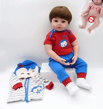Bebê Gabriel | 100% Silicone | Pode Molhar e dar Banho