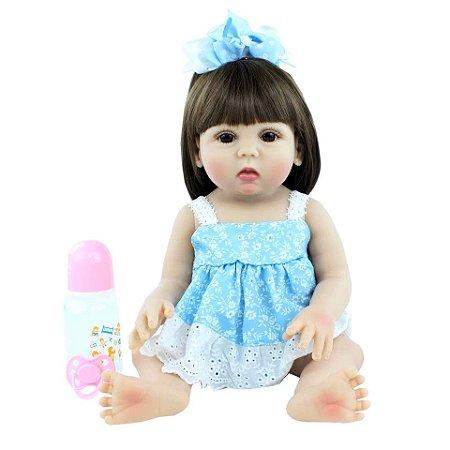 Bebê Luana| 100% Silicone |Pode Molhar e dar Banho