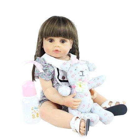 Bebê Bianca   100% Silicone  Pode Molhar e dar Banho