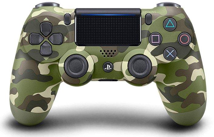 Controle sem fio Dualshock Ps4 - Camuflado Verde