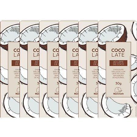 CocoLate 55% Cacau Ao Leite de Coco - 6 unidades